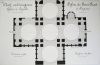 Architecture carlovingienne. Eglises à coupoles. Eglise de Saint-Front, à Périgueux. Coupe transversale du nord au sud [ Belle aquarelle originale ] ...