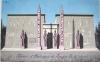 Art d'Egypte. [ Lot de 7 lavis et un pastel originaux  ] Pyramide de Chéops. Coupe du Sud au Nord - Plan du Temple de Louqsor - Pylônes et obélisques ...