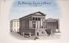 La Maison Carrée à Nîmes [ Beau lavis original ] On joint : Plan géométral de la Maison-Carrée à Nîmes. BONNET, J.