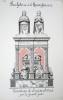 Sculpture de la Renaissance [ Lot de 8 aquarelles, lavis et dessins à la plume originaux ] Tombeau de Louis XII à Saint-Denis par la famille Juste - ...