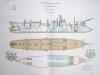 Aide-Mémoire d'Artillerie Navale. Planches. 2e Livraison 1879 (Chapitre VI : Renseignements sur les navires) : Planche 30 : Croiseurs de 2ème Classe. ...