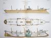 Aide-Mémoire d'Artillerie Navale. Planches. 2e Livraison 1879 (Chapitre VI : Renseignements sur les navires) : Planche 35 : Croiseurs de 3ème Classe. ...