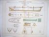 Aide-Mémoire d'Artillerie Navale. Planches. 2e Livraison 1879 (Chapitre VI : Renseignements sur les navires) : Planche 36 : Croiseurs de 3ème Classe. ...
