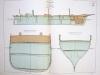 Aide-Mémoire d'Artillerie Navale. Planches. 2e Livraison 1879 (Chapitre VI : Renseignements sur les navires) : Planche 43 : Transports La Moselle, ...