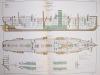 Aide-Mémoire d'Artillerie Navale. Planches. 2e Livraison 1879 (Chapitre VI : Renseignements sur les navires) : Planche 44 : Transports L'Annamite, ...