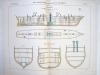Aide-Mémoire d'Artillerie Navale. Planches. 2e Livraison 1879 (Chapitre VI : Renseignements sur les navires) : Planche 45 : Transports.  Transport ...