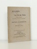 Julien ou La Vie du Poète. Poème lyrique en un Prologue, quatre Actes et huit Tableaux.. CHARPENTIER, Gustave