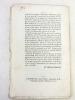 """Extrait du Journal des Débats politiques et littéraires du Jeudi 19 Janvier 1815 [ Impression bordelaise du texte de Chateaubriand sur """"Le 21 Janvier"""" ..."""