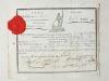 [ Certificat de patriotisme délivré par la 201 1/2 Brigade de l'Armée devant Mayence, division du Général Mengaud, le 11 fructidor an 3 - 28 août 1795 ...