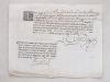 """""""J'ay receu de Mr Pierre Delalande, conseiller du Roy, Lieutenant Général de l'Amirauté de Bayonne par mains de Monsr. Sorhainde adt en la cour ..."""