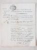 """""""Je soussignée, receveur des Revenus des Biens Nationaux de Paris, reconnois avoir reçu de la Citoyenne Bourotte la somme de vingt-huit livres cinq ..."""