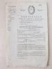 Certificat à Délivrer aux Conscrits qui se sont fait remplacer. [ Rare certificat pré-rempli et vierge, conformément aux dispositions de la loi du 28 ...