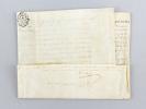 """[ Lettre de Ratification sur vélin, Maison située paroisse Saint Jean du Perrot, Généralité de La Rochelle, le 13 décembre 1787 ] """"Louis par la Grace ..."""