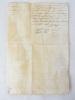 """[ Lettre de Ratification sur vélin, Maison située rue des Allamandiers, Paroisse de Saint Michel, à Bordeaux, n 1792 ] """"Louis par la Grace de Dieu, ..."""