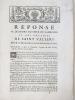 Réponse au Mémoire du Sieur de Gamaches et des Notaires de Saint Vallery pour les Notaires Royaux de la Ville de Saint Vallery contre le sieur de ...