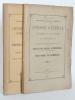 [ Lot de 2 Volumes sur les Tramways du Lot-et-Garonne ] Conseil Général du Département de Lot-et-Garonne. Tramways Départementaux. 2me Session ...