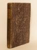 Annales de Chimie et de Physique. Année 1819 - Volume I - Tome Dixième [ Tome 10 - Tome X ] : Sur les Chronomètres de MM. Bréguet ; Mémoire sur la ...