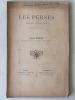 Les Perses. Drame d'Eschyle interprété en vers par Léon Paris.. PARIS, Léon ; ( ESCHYLE )