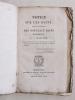 Notice sur les Bains, suivie du Prospectus des Nouveaux Bains de Bordeaux. MOULINIE, J.