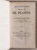 Abrégé Chronologique de la Vie de Platon. [ avec une L.A.S. de l'auteur montée en tête ]. FORTIA D'URBAN, Marquis de