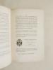 Lettre Pastorale et Mandement de son Eminence le Cardinal-Archevêque de Bordeaux à son Retour d'un Voyage à Rome et à l'occasion de la Restauration, ...