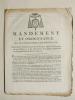 Mandement et Ordonnance de M. l'Archevêque de Bordeaux, Concernant l'établissement des Fabriques dans les Paroisses de son Diocèse, et les réparations ...