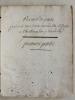 Recueil de Poésie pendant mes deux années chez Mr. Pépin à Cherbourg l'an 7 et 8 de la République [ Manuscrit de Poésie - à Cherbourg 1799 - 1800 ]. ...