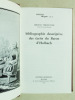 Bibliographie descriptive des écrits du Baron d'Holbach. VERCRUYSSE, Jeroom