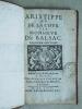 Aristippe ou De la Cour par Monsieur de Balsac.. GUEZ DE BALZAC, Jean Louis