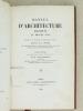 Manuel d'Architecture Religieuse au Moyen-Age. Résumé de la doctrine des Meilleurs Auteurs.. PEYRE, M. J. F. A. ; DESJARDINS, Tony