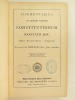 Commentarius in decem Partes Constitutionum Societatis Jesu. Opus manuscriptum : composuit Augustinus Oswald, Soc. Jesu sacerdos.. OSWALD, Augustinus