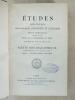 Etudes religieuses, philosophiques, historiques et littéraires, Supplément aux Tomes LXI, LXII et LXIII [ 61, 62 et 63 ] -  Partie Bibliographique ...