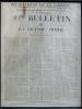 29me Bulletin de la Grande Armée. Molodetschno, le 3 Décembre 1812 ( Département de la Gironde. Extrait du Journal Officiel du 17 décembre 1812 ) . ...