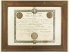 Diplôme de Docteur en Droit mention Sciences Politiques et Economiques. Fait à Paris le 7 Février 1914. Avec 2 Médailles de prix de l'Université de ...