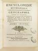 Encyclopédie Méthodique. Géographie. Tome Second. DIDEROT ; D'ALEMBERT ; [ PANCKOUCKE ]
