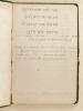 Manuscrit anonyme de grammaire et recherche en grammaire hébraïque.. Anonyme