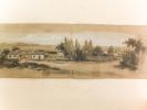 """Album de dessin du milieu XIXe. Avec un beau dessin au crayon : """"Mostaganem en 1847. Demeure du """"Général"""" logé par le Génie.. Collectif"""