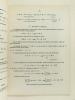 Chimie organique. ( 2 Tomes - Complet) Ecole Centrale des Arts & Manufactures. 2ème Année d'Etudes.. PREVOST, M.