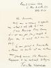 """L.A.S. datée du 23 mai 1956 : """"Cher Monsieur, Voulez-vous m'excuser de répondre avec retard à votre lettre du 5 mai. J'aime beaucoup Pierre Brune et ..."""