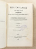 Bibliographie catholique , Tome LX ( 60 ) , Juillet à décembre 1879 [ Bibliographie catholique , Revue critique des ouvrages de religion, de ...