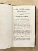 Leçons sur la poésie sacrée des Hébreux , traduites pour la première fois en français du latin ( 2 tomes - complet ). LOWTH, Dr. [ Robert ] ; SICARD, ...