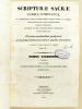 Scripturae sacrae, cursus completus. Tomus Vigesimus (Tome XX - 20 -) : Vatablus : In Jeremiam commentarium Joannes et Richardus Pearson, Critici ...