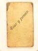 4 carnets manuscrits, recueils de pensées et recueils de poésies [ Circa 1910-1913 ; Détail : ] Carnet 1 : Recueil de Poésies Année 1910-1911 ; Carnet ...