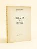 Poèmes en prose [ Livre dédicacé par l'auteur ]. CARCO, Francis
