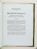 Description du Théâtre de Marcellus à Rome, rétabli dans son état primitif d'après les vestiges qui en restent encore. [ Edition originale ]. ...