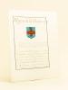 [ Extrait d'Armorial Manuscrit seconde partie XVIIIe ] Mazarin la Meilleraye. D'azur à une hache d'argent dans un faisseau consulaire d'or, en pal, et ...
