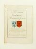 [ Extrait d'Armorial Manuscrit seconde partie XVIIIe ] Maison de France. Le Roy porte deux Ecus accolez, le 1er d'azur à 3 fleurs de lys d'or, 2 en ...