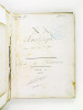 Cours de Géométrie analytique fait par M. René Gosse [ Manuscrit : Classe de Mathématiques Spéciales - Lycée de Bordeaux, Année scolaire 1909-1910 ]. ...