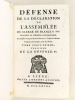Oeuvres de Messire Jacques-Benigne Bossuet Evêque de Meaux. Tome Vingt et Unième [ Tome 21 ] Troisième [ Tome ] de la Défense de la Déclaration de ...