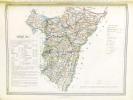 La France. Atlas des 89 Départements et des Colonies Françaises divisés en arrondissement et cantons avec un tracé des routes impériales et ...